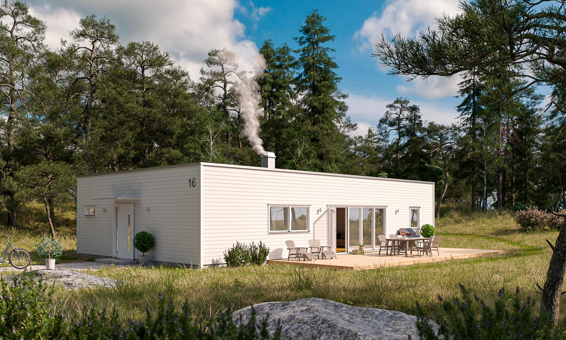 Villa Häraldsviken kubisk Framsida