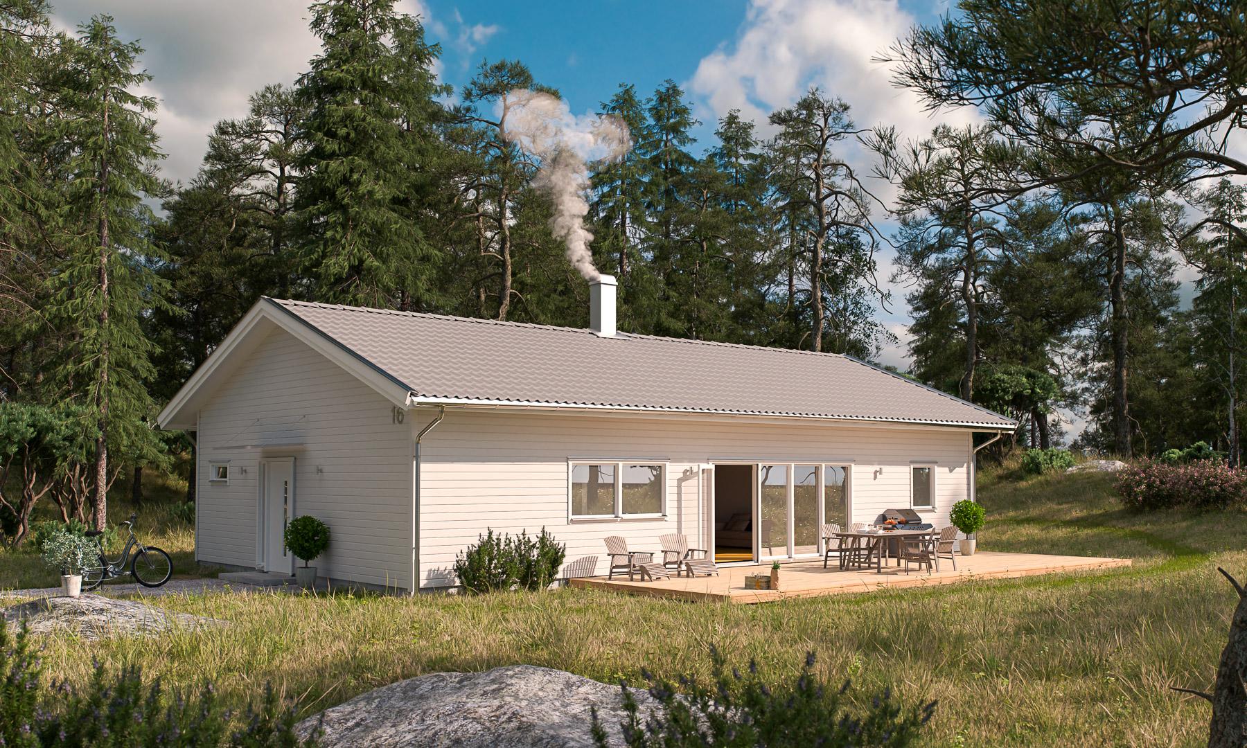 Villa Häraldsviken sadeltak Framsida